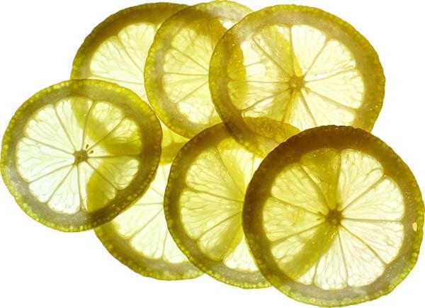 Durchsichtige Zitronen